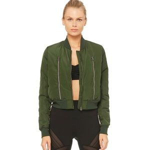 NWOT WOMENS ALO off duty bomber jacket 2